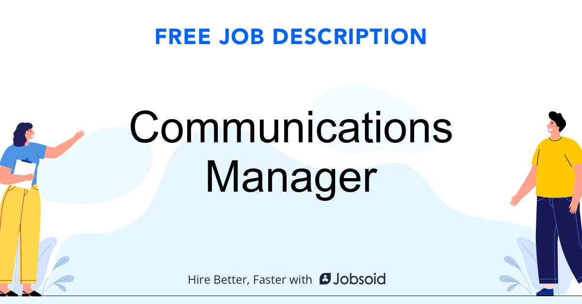 Communications Manager Job Description - Image