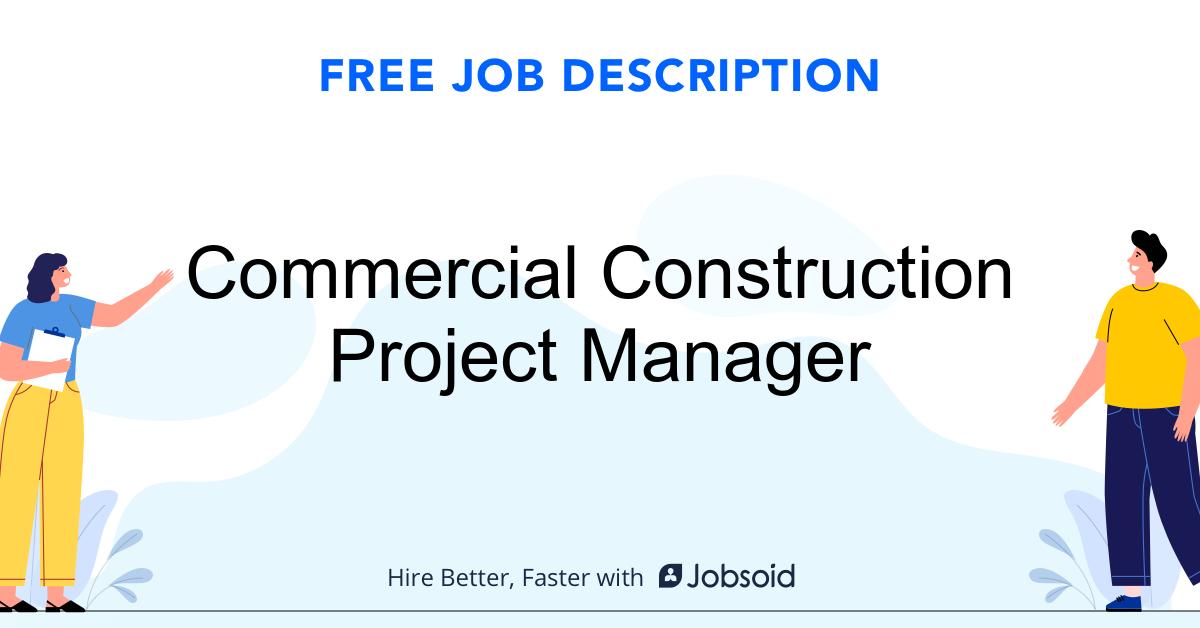 Commercial Construction Project Manager Job Description - Image